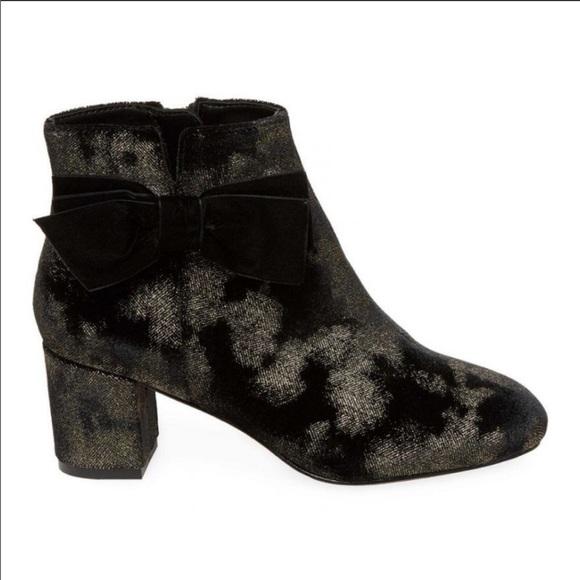 2e470b0e63692 kate spade Shoes   Ny Langley Black And Gold Sz 6 Booties   Poshmark